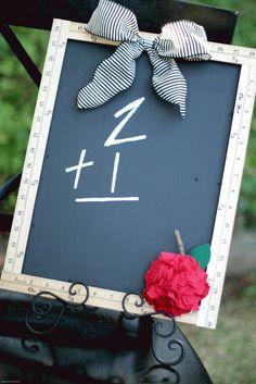 Make a chalkboard frame using rulers! So cute for back-to-school decor!