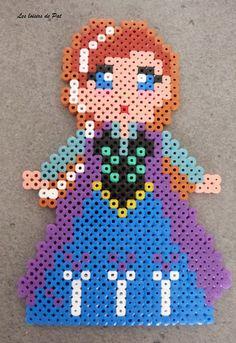 Anna Frozen hama perler beads by pat2811