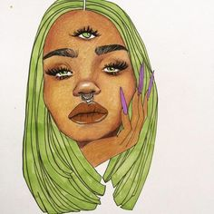 """🍃 Art by tamarajuana prints coming soon! Dm for commission inquiries ✨ """" Trippy Drawings, Cool Drawings, Imagenes Free, Art Et Design, Alien Art, Art Hoe, Dope Art, Art Inspo, Painting Inspiration"""