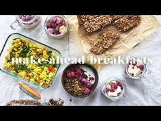 (2) 5 MAKE-AHEAD VEGAN BREAKFAST RECIPES | Quick & Easy Meal Prep - YouTube