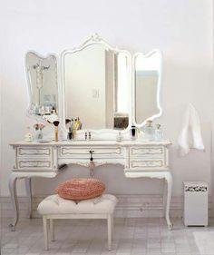 Beautiful makeup station