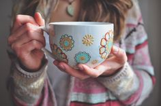 Hand Paint Mug. Henna Designs. Boho. Colorful. Pattern. Tea Cup. Floral Painting. Mothers Day by Marggrz on Etsy https://www.etsy.com/ca/listing/264710925/hand-paint-mug-henna-designs-boho
