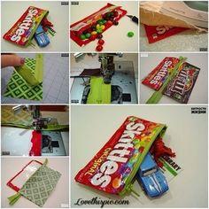 DIY candy wrapper bag hand bag diy crafts home made easy crafts craft idea crafts ideas diy ideas diy crafts diy idea do it yourself diy projects diy craft handmade storage bag