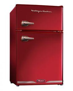 Retro Collection | Nostalgia Electrics RRF325HNRED | Retro Series™ 3.0 Cu. Ft. Compact Refrigerator Freezer