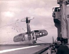plane crash on aircraft carrier--whoops!