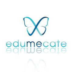 butterfly logo design for edumecate by thelogoboutique.com