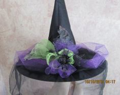 Items similar to Vivid Halloween Witch Hat - Halloween Witch Hat - Witch Hat - Costume Witch Hat on Etsy