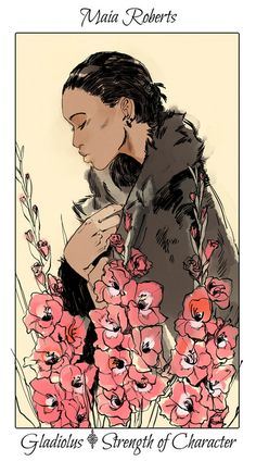 More flower cards from Cassandra Jean's deck