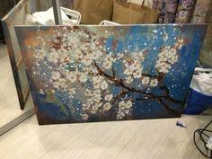 Tienda Online Pintado a mano abstracta moderna de la lona de la flor arte decoración de la pared pintura al óleo imágenes para la sala de pintura | Aliexpress móvil