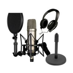 Rode NT1-A Cardioid Condenser Microphone Recording Package with... ($249) ❤ liked on Polyvore featuring music and technology