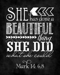 Scripture Art Mark 14:68 Chalkboard Style by ToSuchAsTheseDesigns