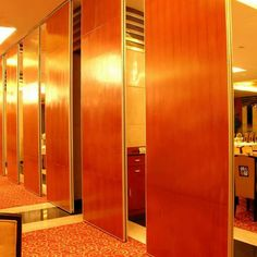 Folding High Partition Wall, Operable Wooden Partitions, Banquet Hall Movable Partition Board
