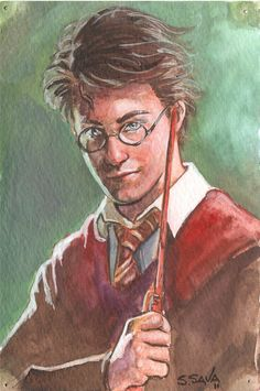 Harry Potter watercolor done by the very talented Scott Christian Sava.