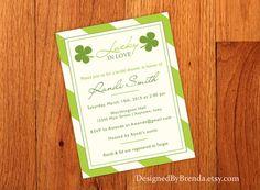 Lucky in Love Bridal Shower Invitation  Irish by DesignedByBrenda