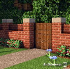 Minecraft Wall, Minecraft Mansion, Minecraft Cottage, Minecraft Castle, Cute Minecraft Houses, Minecraft Plans, Amazing Minecraft, Minecraft Blueprints, Minecraft Crafts