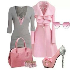 Find images and videos about love, fashion and cute on We Heart It - the app to get lost in what you love. Pink Outfits, Classy Outfits, Stylish Outfits, Beautiful Outfits, Cute Outfits, Look Fashion, Fashion Beauty, Fashion Outfits, Womens Fashion