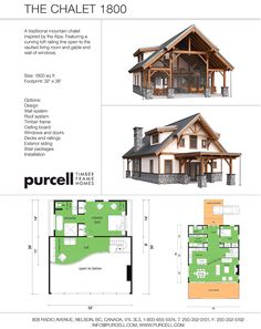 Purcell Timber Frames - Full Home Packages and Prefabricated Houses - The Chalet