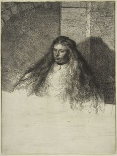 REMBRANDT (REMBRANDT VAN RIJN), (DUTCH, 1606–1669) - THE GREAT JEWISH BRIDE, 1635 Grabado inacabado de Rembrandt de 'La gran novia judía' (The Metropolitan Museum of Art, New York, H. O. Havemeyer Collection)  Ver más en: http://www.20minutos.es/fotos/artes/grandes-pinturas-inacabadas-11982/?imagen=3#xtor=AD-15&xts=467263   Rembrandt+(Rembrandt+van+Rijn),+(Dutch,+1606–1669)+-+The+Great+Jewish+Bride,+1635