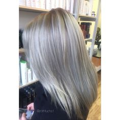 Icey silver blonde hair