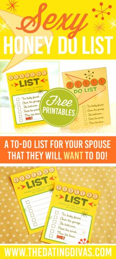 A to-do list for your spouse that they will WANT to do! This sexy and suggestive love note is perfect for my spouse! www.TheDatingDivas.com