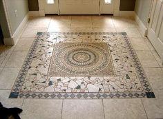 Glass Mosaic Tile Art: Mosaic Floor Tile Floor Installation-05