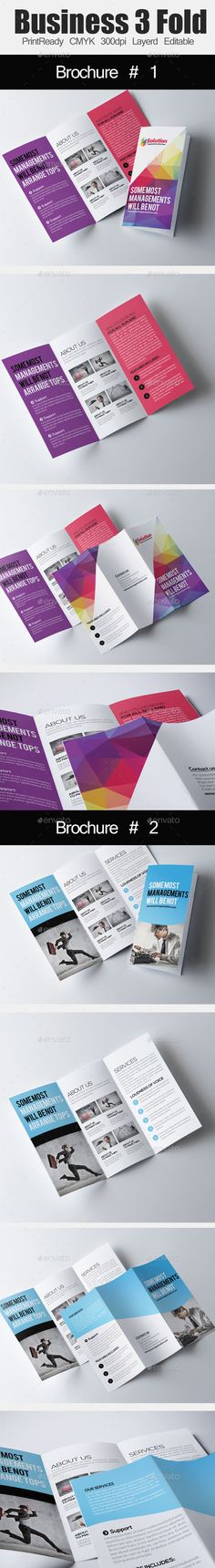 Tri Fold Business Brochure Bundle Template #design Download: http://graphicriver.net/item/tri-fold-business-brochure-bundle/12960542?ref=ksioks