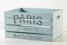 crate, chalk paint, vintage stencils & distressing ~ free class at Michaels
