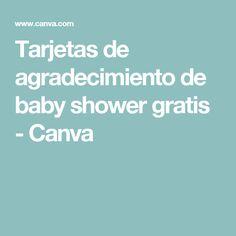 Tarjetas de agradecimiento de baby shower gratis - Canva