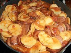Smoked sausage and ravioli
