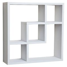 Danya B Geometric Square Wall Shelf - White... paint the green ones I already have to white for the walls of the nursery.