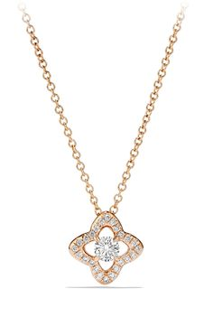 Swooning over this 18-karat rose gold necklace with diamonds by David Yurman.