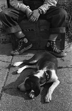 U.S. A Boy and his Dog, 1950 // by Harold Feinstein