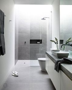 To create a place at wall for shower material (with black hexagon tiles)