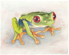 this is giving me the urge to paint frogs in watercolor