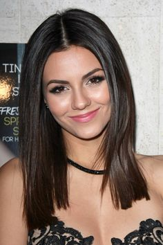 Victoria Justice at the Kode Magazine Spring 2015 Cover Party at the The Standard on March 12, 2015 in West Hollywood, CA  Dark Brown  Shoulder Length  Straight