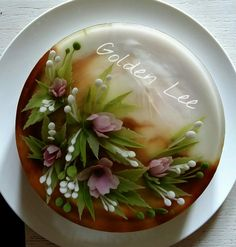 Jello Desserts, Pudding Desserts, Puding Art, 3d Jelly Cake, Jelly Flower, Cake Topper Tutorial, 3d Cakes, Just Cakes, Flower Cakes