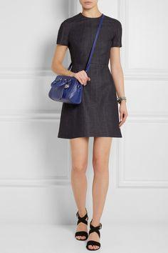 Alexander McQueen | Padlock mini textured-leather shoulder bag | NET-A-PORTER.COM