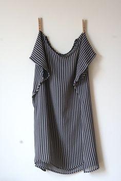 diy boxy top- minimal sewing