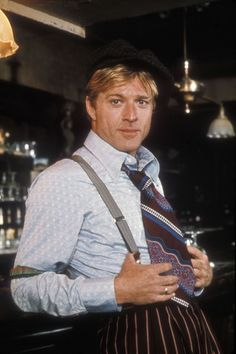 """Robert Redford on the set of """"The Sting"""", 1973 #actor"""