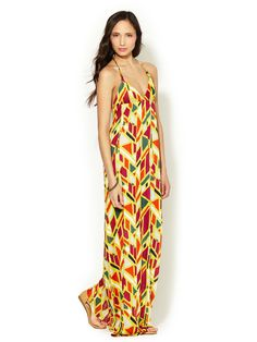 Jersey Triangle Halter Maxi Dress by T-Bags Los Angeles at Gilt