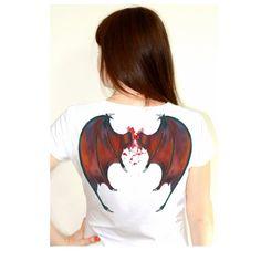 Dragon wings handpainted woman man t-shirt by Dariacreative