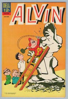 Alvin # 6 VF Alvin and Chipmunks Dell file copy 1963 Alvin And The Chipmunks, Silver Age Comics, Favorite Cartoon Character, Magazines For Kids, Classic Comics, Vintage Comics, Comic Covers, Cartoon Characters, Kids Toys