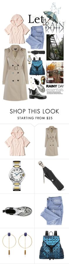 """Splish Splash: Rainy Day Style"" by shortyluv718 ❤ liked on Polyvore featuring Hollister Co., Alexander McQueen, Essie, Isabel Marant, Bao Bao by Issey Miyake, Hudson Jeans and rainyday"