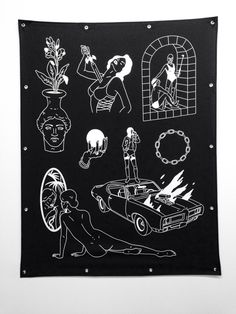 Image of 'CURSES #2' Large Scale Flag - $290 by Sean Morris