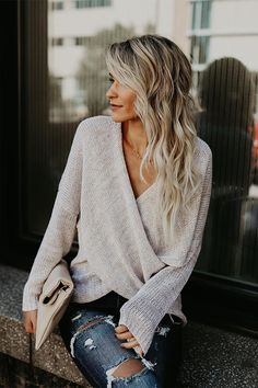 Overlap Knit Sweater