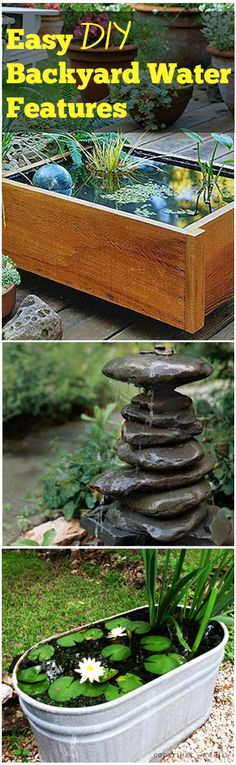Easy DIY Backyard Water Features