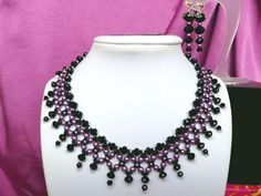 Free pattern for beautiful beaded necklace Milady | Beads Magic