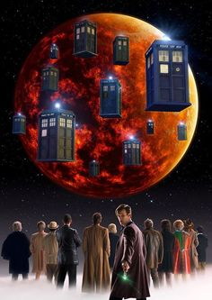 Oh, I love love love love this! One of my all-time favorite moments in Doctor Who is the 12 Doctors flying their tardises into Gallifrey's lower atmosphere.