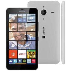 """Smartphone Desbloqueado Microsoft Lumia 640XL Dual Branco com Windows Phone 8.1, Tela de 5.7"""", 4G, Câmera 13MP e Processador Quad Core  1.2 GHz - Vivo"""
