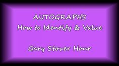 In this episode of the Gary Stover Hour we look at ways to identify legitimate autographs and answer questions, such as, is the signature secretarial